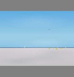 Forgotten beach vector image