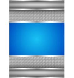 background template metallic texture blue blank vector image vector image