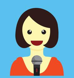lady singing cartoon graphic vector image