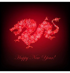 New Year Card With Dragon vector image