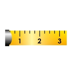 ribbon tape measure icon vector image