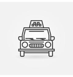 Taxi linear icon vector image