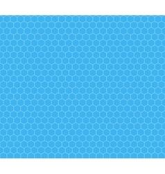 White hexagon grid on cyan seamless pattern vector image