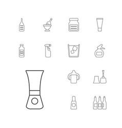 13 bottle icons vector