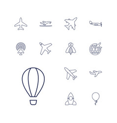 13 fly icons vector