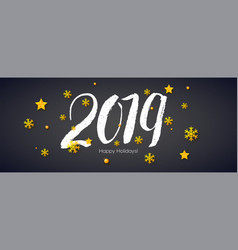 2019 hand written lettering with stars and vector image