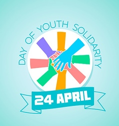 24 april international day of youth solidarity vector