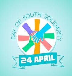 24 april international day youth solidarity vector