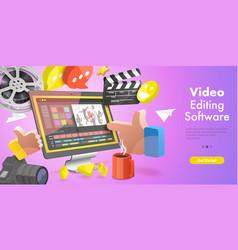 3d conceptual video editing vector