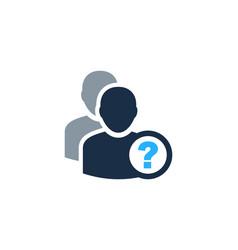 Ask user logo icon design vector