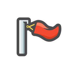 biathlon wind flag icon cartoon vector image