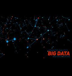 big data visualization futuristic vector image