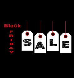 Black friday sale tags vector