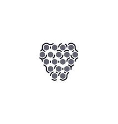 blackberry fruit logo icon symbol element vector image