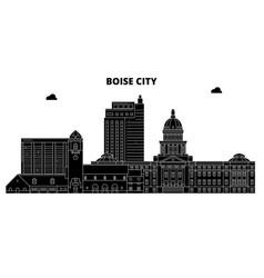 boise cityunited states skyline travel vector image