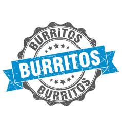 Burritos stamp sign seal vector