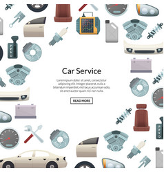 Car parts background with text vector