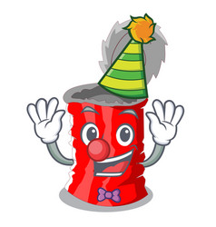 clown tincan ribbed metal character a canned vector image