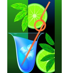 cocktail mint vector image