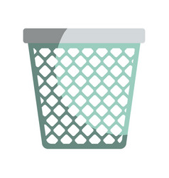 colorful graphic of office trash can without vector image
