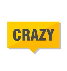 Crazy price tag vector
