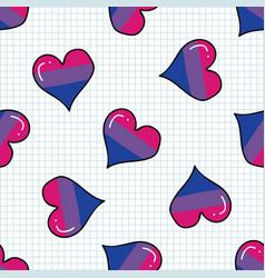 cute bisexual heart cartoon seamless vector image