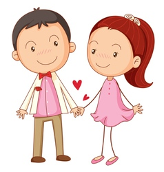 cute couple dating vector image
