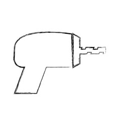 drill electric tool icon vector image