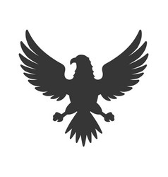 Eagle icon bird logo on white background vector