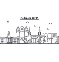 England leeds architecture line skyline vector