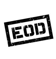 EOD rubber stamp vector