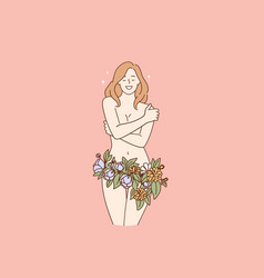 female body beauty concept vector image