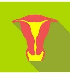 Female uterus icon flat style vector