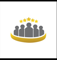 five stars 5 star logo premium quality design vector image
