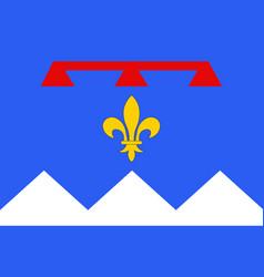 flag of alpes de haute provence is a department vector image