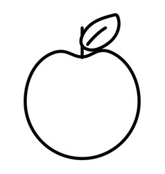 fruit apple cartoon vector image
