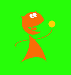 funny alien with a bowling ball vector image