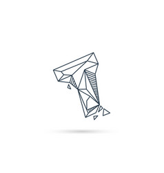 Gemstone letter t logo design icon template vector