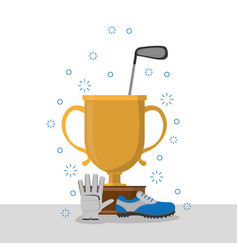 golf championship cup vector image