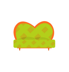 green retro sofa or couch living room or office vector image vector image
