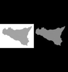 Halftone sicilia map vector