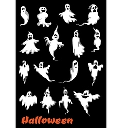 Halloween ghosts ghouls and monsters vector