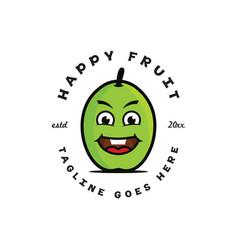 happy fruit logo vector image