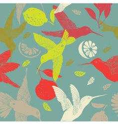 Humming birds pattern vector