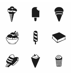 Ice-cream icon set vector