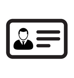 id card icon male user person profile avatar vector image