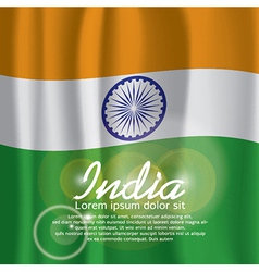 India Flag Curtain vector image