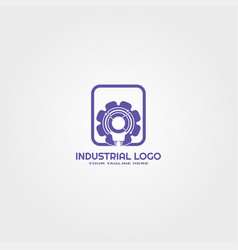 Industrial logo template logo for business vector