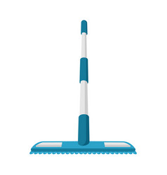 Isolated object mop and stick symbol set of vector