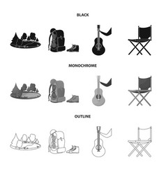 Isolated object tourism and excursions symbol vector